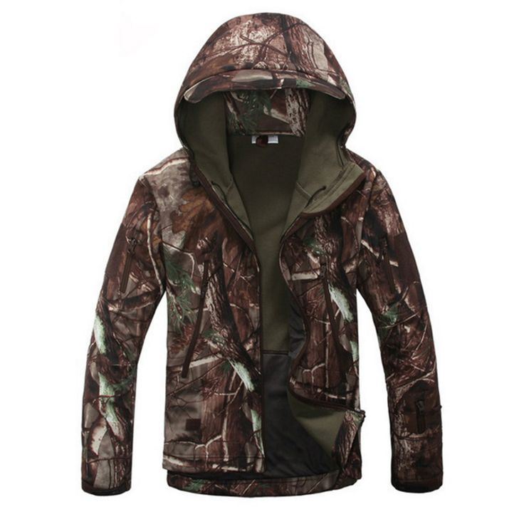 Tactical Shark Skin Softshell Outdoor Jacket Military Men Waterproof Army Camouflage Hoody Hunting Hiking Camping Clothing J18 #women, #men, #hats, #watches, #belts