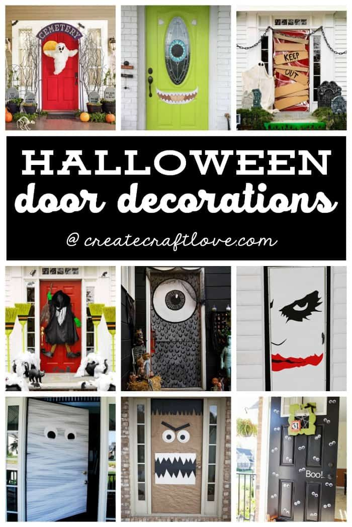 Halloween Door Decorations Your Best DIY Projects Pinterest - pinterest halloween door decor