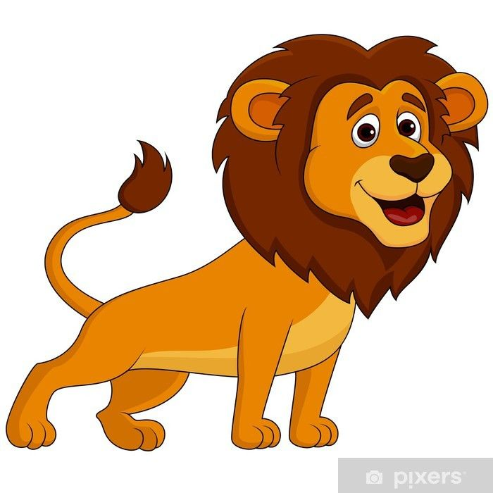 Cute Lion Cartoon Wall Mural Pixers We Live To Change Cartoon Lion Cartoon Tiger Cute Lion