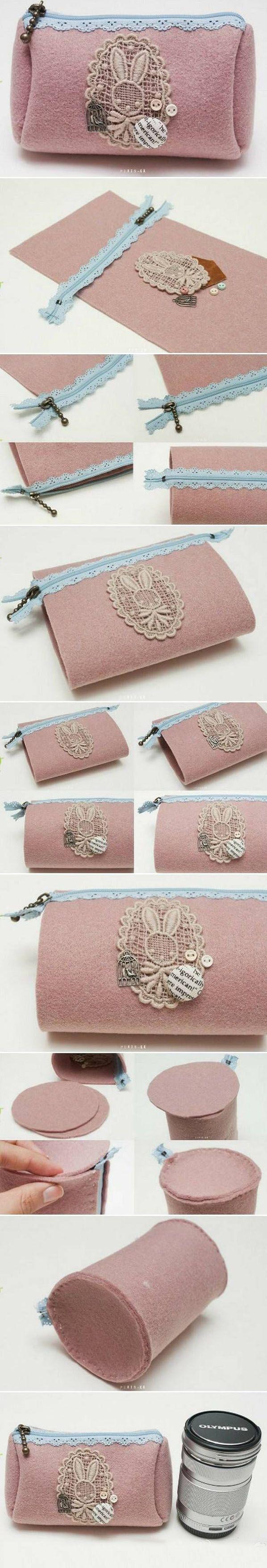 Beautiful Pink Bottle Bag