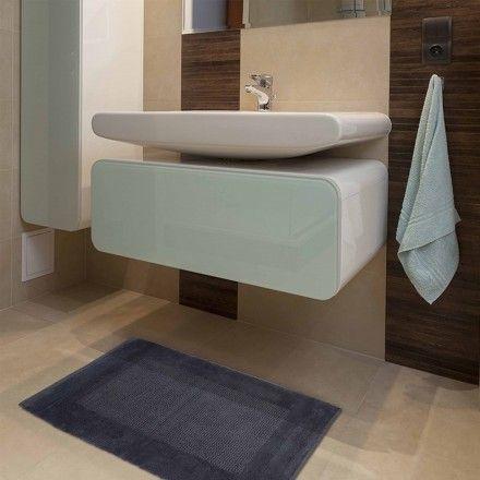 Passadeira Banheiro Sublime - Cinza 0,60m x 1,00m - Kapazi