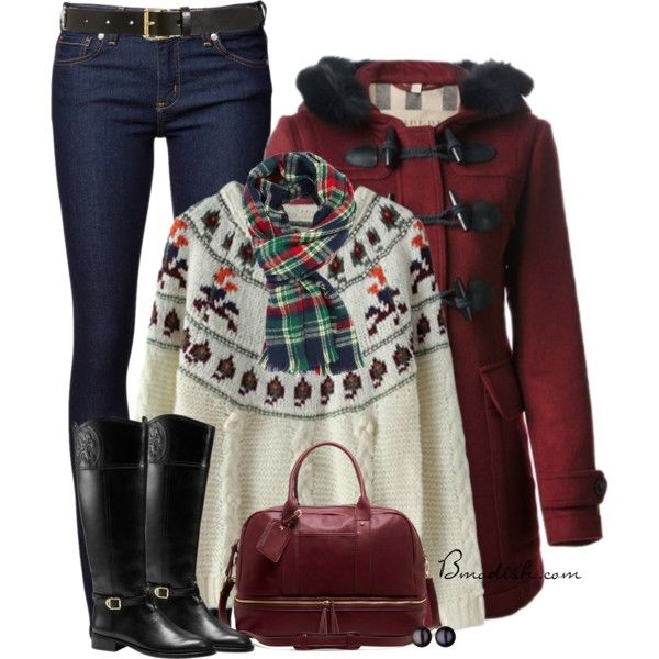 A fashion look from December 2014 featuring Chicnova Fashion sweaters, Burberry coats and Naked & Famous jeans. Browse and shop related looks.