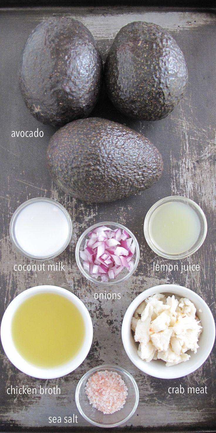 Cream of Avocado Soup with Crab Meat - Autoimmune Paleo                                                                                                                                                                                 More