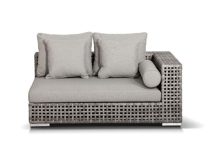 """""""Канти"""" ,    A085A1, модуль угловой левый  в комплекте с подушками, алюминиевый каркас, искусственный ротанг, размеры 1530x1210x610, цвет серый             Метки: Диваны садово парковые, Садовые диваны из ротанга, угловые диваны для дачи.              Объем: 1,129.              Материал: Металл, Ткань, Пластик.              Бренд: 4SiS.              Стили: Скандинавский и минимализм.              Цвета: Серый."""