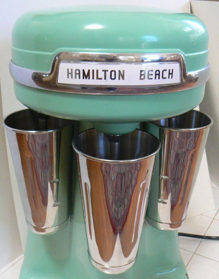1950s Malt Shop Hamilton Beach Milk Shake Triple Mixer 3 Head Milkshake Maker Vintage Model 40DM.