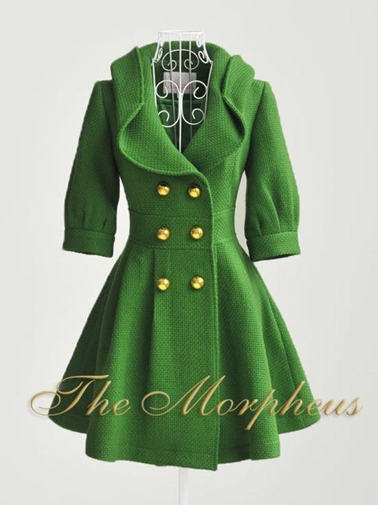 I would sport this. Adorable!: Fashion, Style, Sleeve Double, Green Coat, Coats