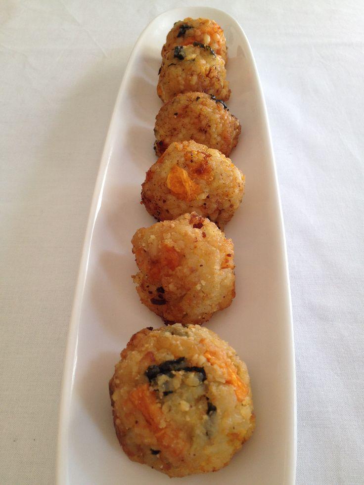 Pumpkin & Spinach Riscotta Balls