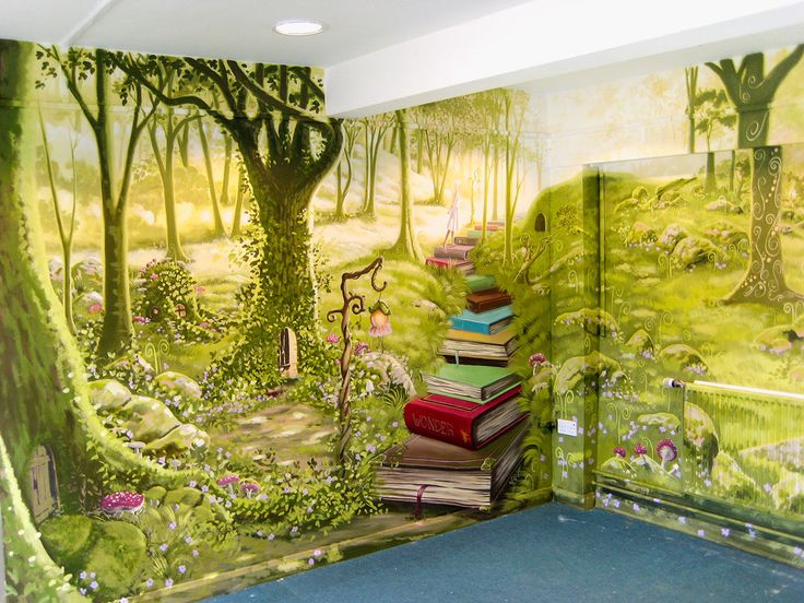 7 best Library Murals images on Pinterest | Murals, Painted walls ...