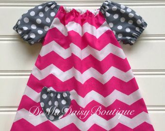 Back to School Dress, Chevron Toddler Girl Dress, Girl School Dress, Baby Girl Dress, Little, Girl Dress, Pink Dress, Toddler Girl Clothes