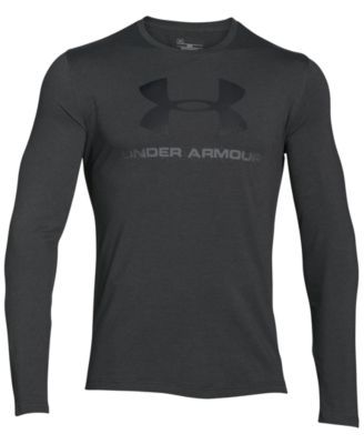 UNDER ARMOUR Under Armour Men'S Long-Sleeve Logo T-Shirt. #underarmour #cloth #shirts