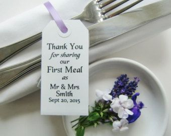 Rustic Wedding Table Decor-Wedding Favors-THANKYOU by IzzyandLoll