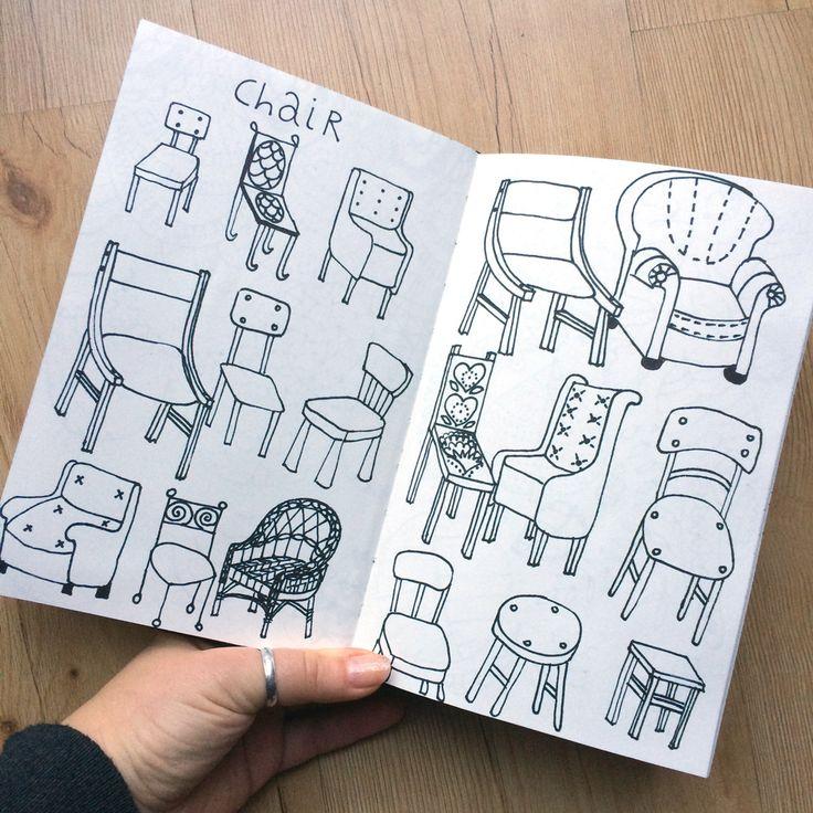 Klika Design: Creativebug Drawing Challenge with Lisa Congdon Day 3: chair.