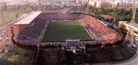 Steaua Bucharest Football Club. Stadionul Ghencea, Bucharest, Romania