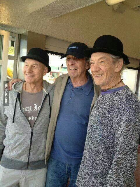 Pickard, Spock and Gandalf