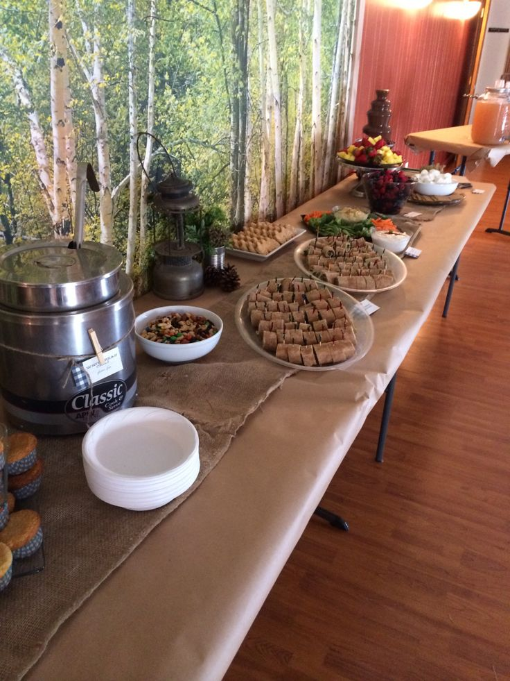 camping baby shower food