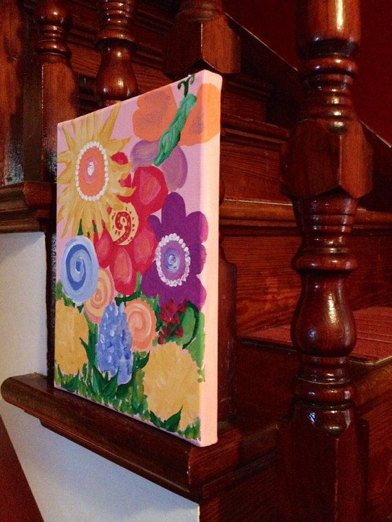 Flower patch 8 by 10 on Etsy, $40.00