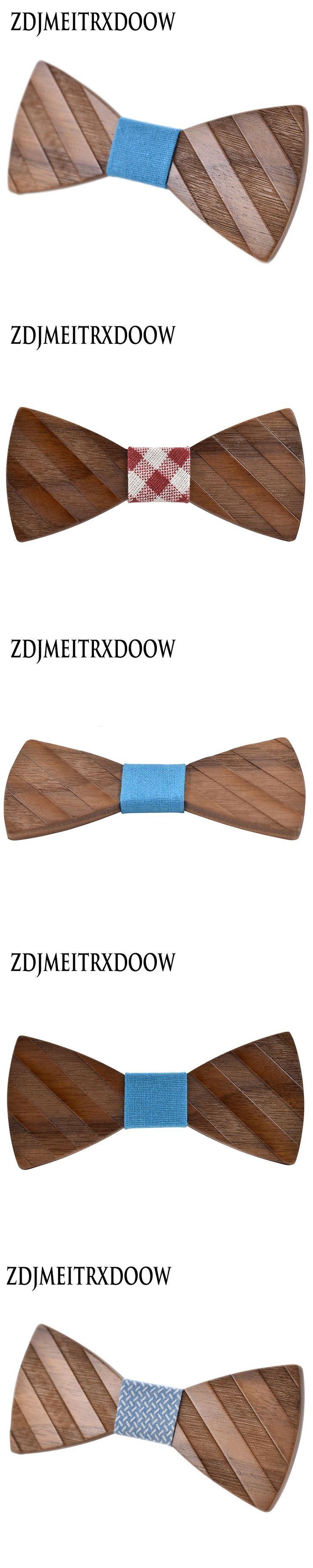 ZDJMEITRXDOOW Gravata Wedding Bow Tie Wooden Butterfly For Men's Suit Shirt Necktie Jewerly Accessory Casual fashion bow tie