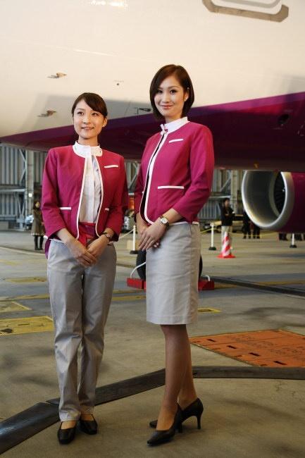 Cabin Attendants of Peach Airlines ~ World stewardess Crews