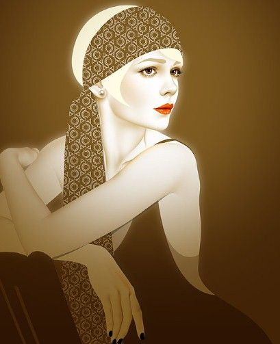 The Great Gatsby (2013)   An Illustration of Carey Mulligan (Daisy Buchanan) notes her bobbed hair style.  And in this linked article the film's hair designer, Kerry Warn, discusses 1920s styles.
