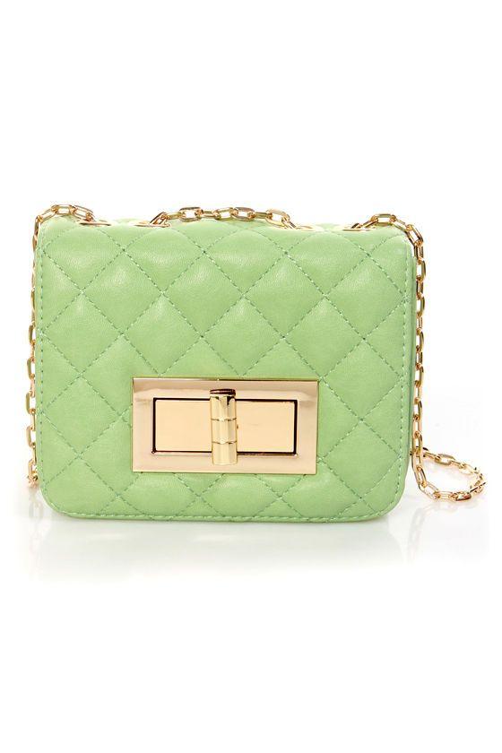 Cute Quilted Purse - Mini Purse - Handbag - Mint Purse - $32.00