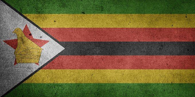 Zimbabwe, Drapeau, Grunge, Afrique
