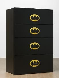 Boys Batman Theme Bedroom Dresser--replace w whatever superhero emblem you want
