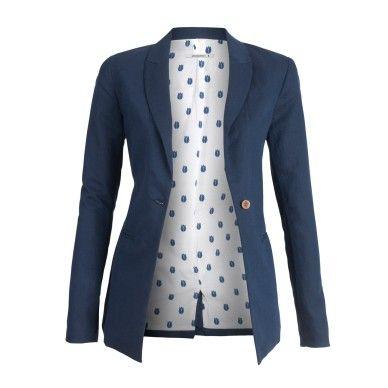 Cool blazer - cotton and linen. GOTS certified
