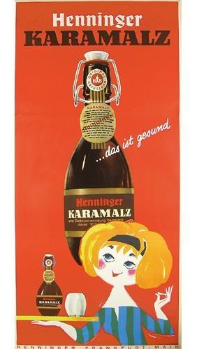 Henninger Karamalz beer ad 1960s