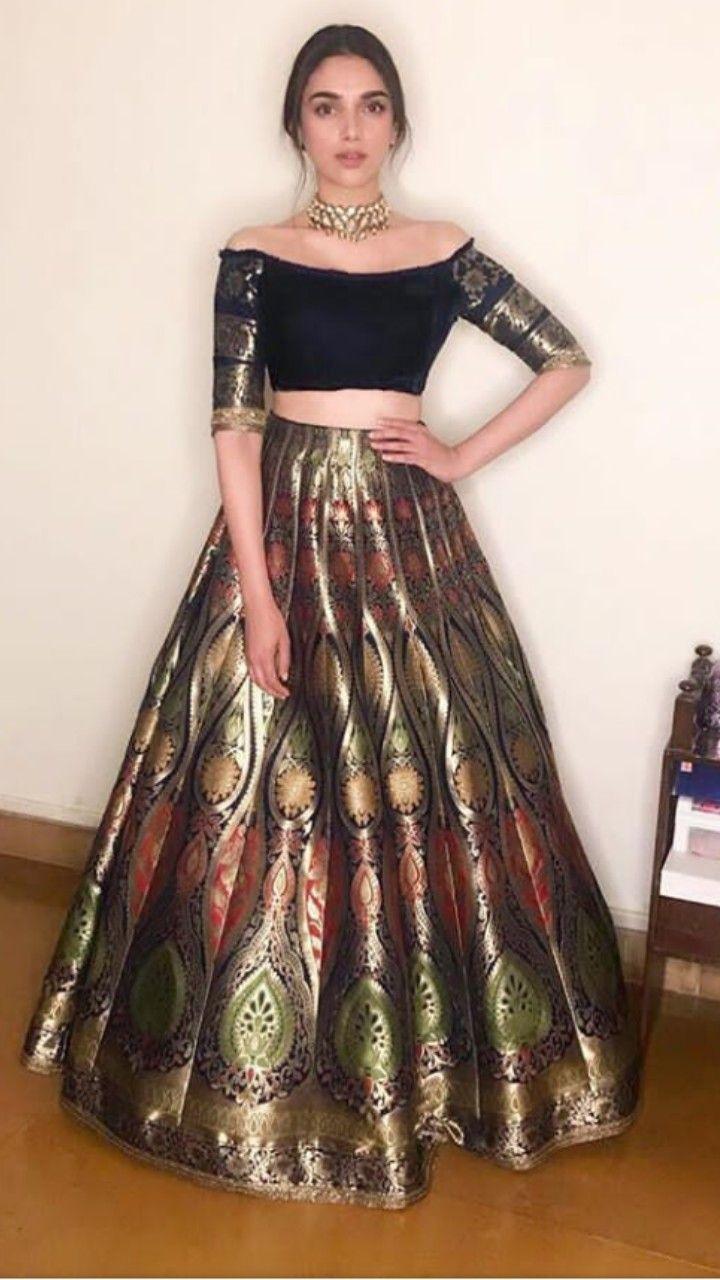 53ac424f2 Beautiful Banarasi Silk Lehenga-Choli #MM #Aditirao | Ethnic Wear & Lehengas  in 2019 | Lehenga, Lehenga skirt, Lehenga choli wedding