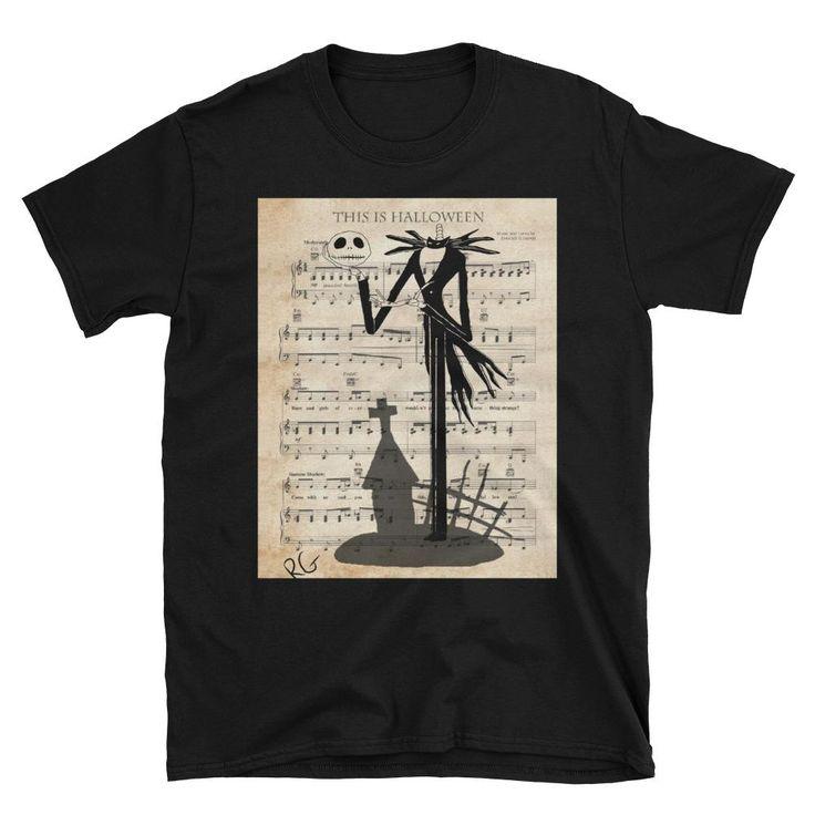 This Is Halloween Music Score Illustration Short-Sleeve Unisex T-Shirt