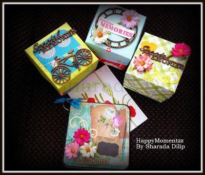 HappyMomentzz crafting by Sharada Dilip: Rakhi Explosion Box handmade rakhi cards