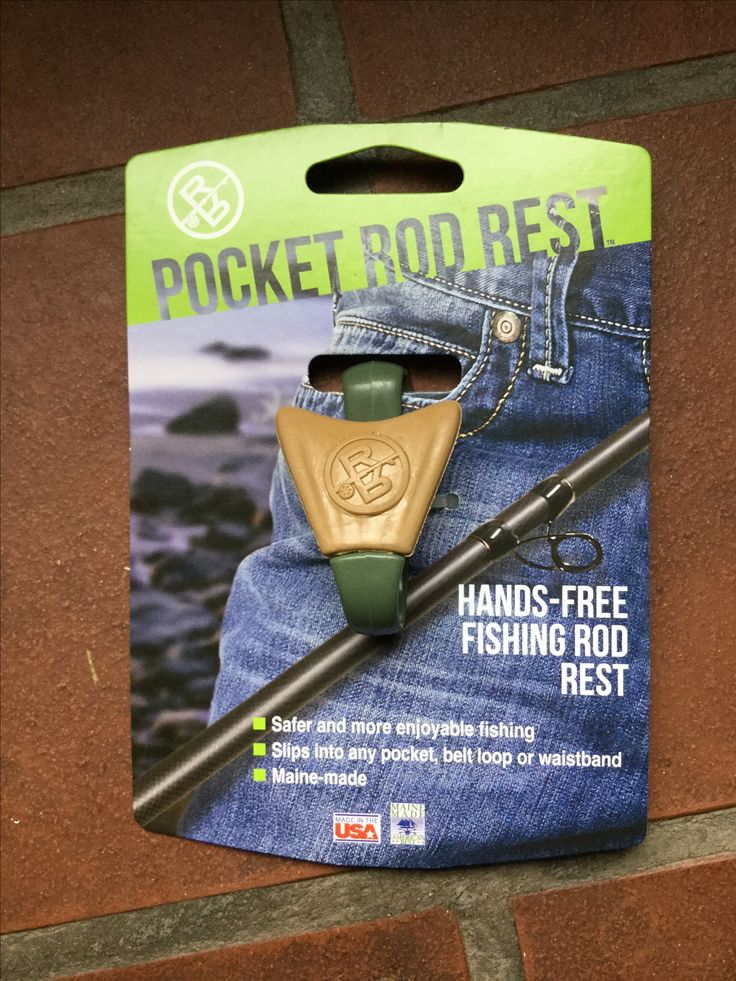 Pocket Rod Rest. Made in the USA, because you can't bait, clean or change a hook with one hand! http://www.tackledirect.com/pocket-rod-rest.html
