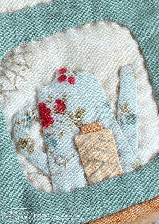 :: Crafty :: Quilt :: Patchwork :: Весеннее окошко / Spring window - Вечерние посиделки