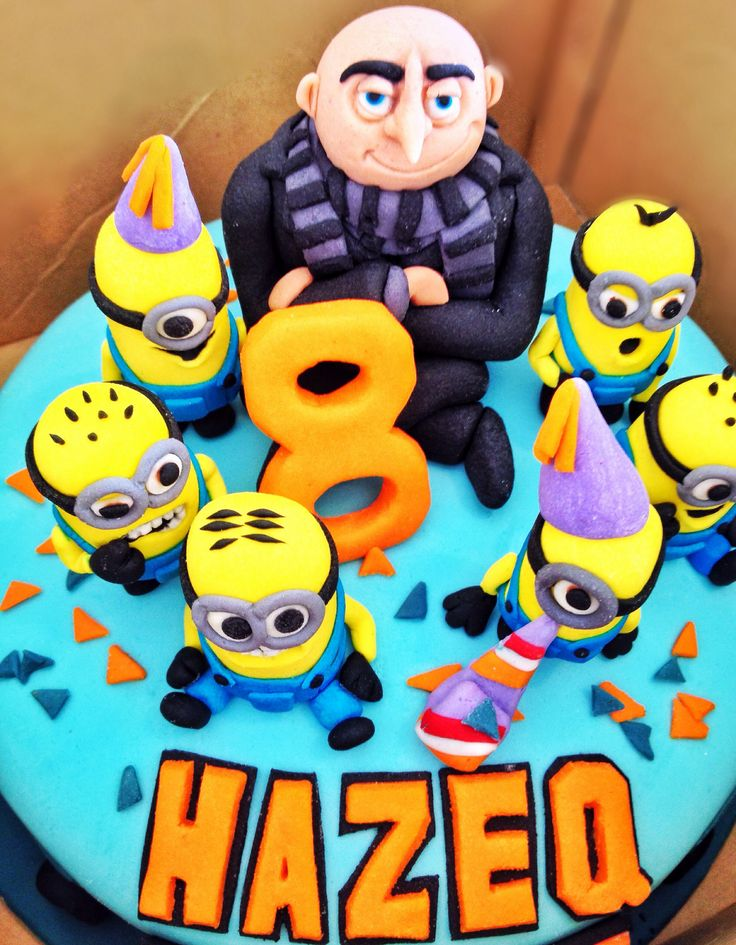 Minion Theme Party Minions Birthday Cake