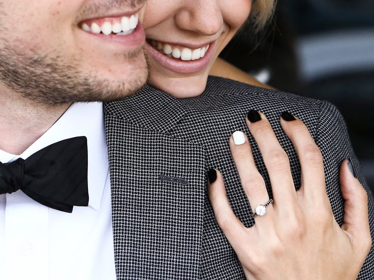 The Perfect Nail Polish Color to Show Off Your Engagement Ring | Photo by: Carly Loves Amos | TheKnot.com
