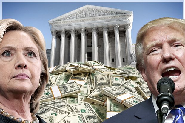 SCOTUS makes it rain: Most of the big money behind the 2016 election directly resulted from Supreme Court decisions