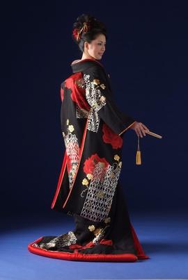 utikake - kimono style
