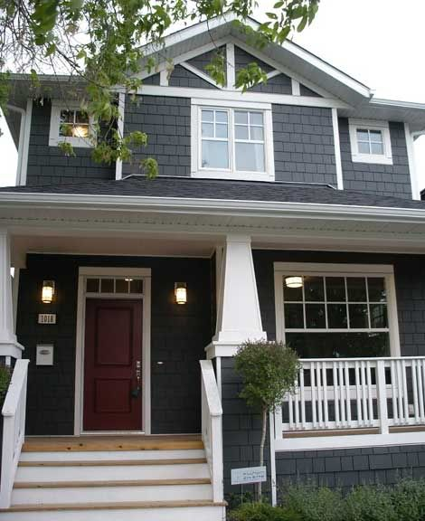 A House Of A Different Color Black Exterior Colors Hardy Plank And Grey