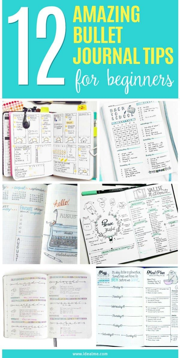 12 Amazing Bullet Journal Tips for Beginners - Ideal Me in ...