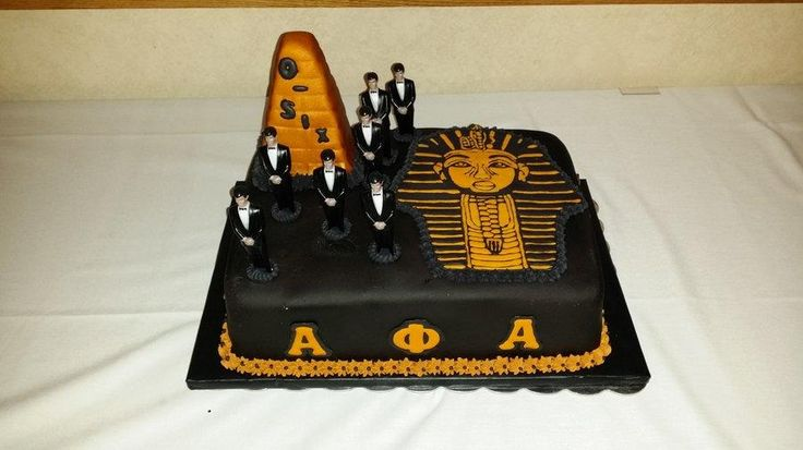 This is an Alpha Fraternity New Year's Eve Cake I done for their Annual Banquet