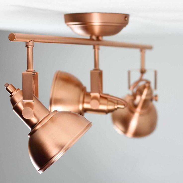 Vintage Strahler 3 Flmg Deckenleuchte Schwenkbar In Kupfer Industrielampen Loft Mobel Wohnen Beleuchtung Deckenlampen Lampe Industrielampen Lampe Kupfer