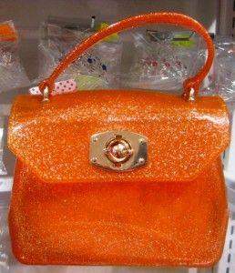 Mini Orange Sparkly Jelly Handbag
