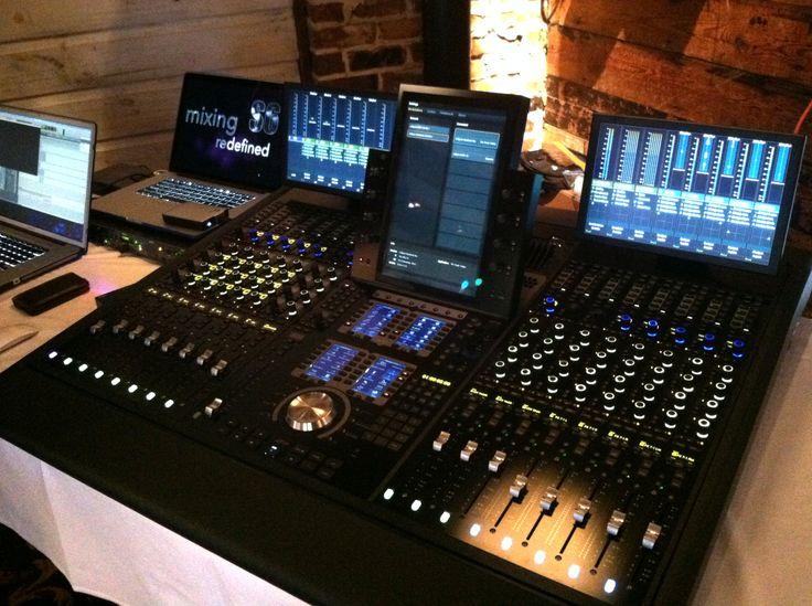 Avid s6 console full view music studio room recording
