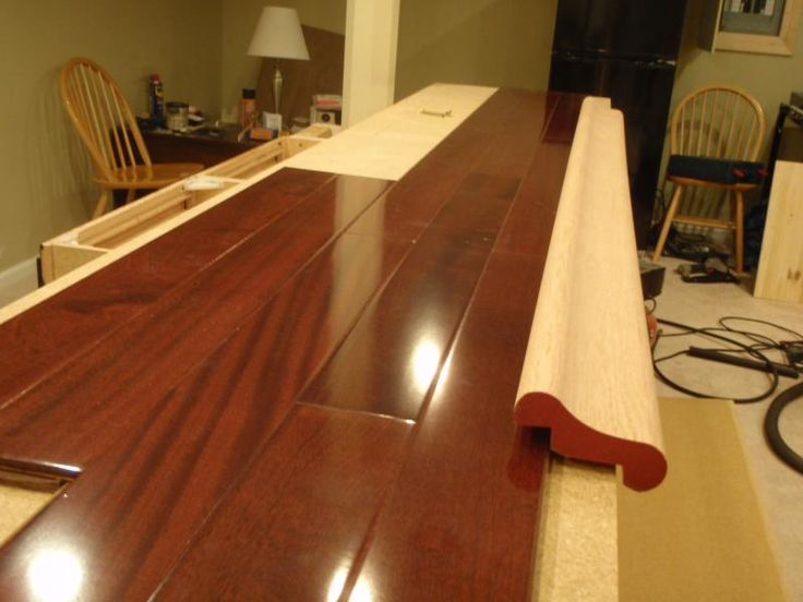 Laminate floor bar top bar ideas pinterest for What to use for a bar top