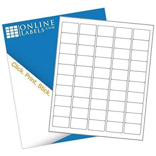 """1.5"""" X 1"""" Barcode Labels (5,000 Sheets) - Blank White Matte - 50 Labels Per Sheet = 250,000 Labels Total - Inkjet/Laser Compatible - Online Labels"""