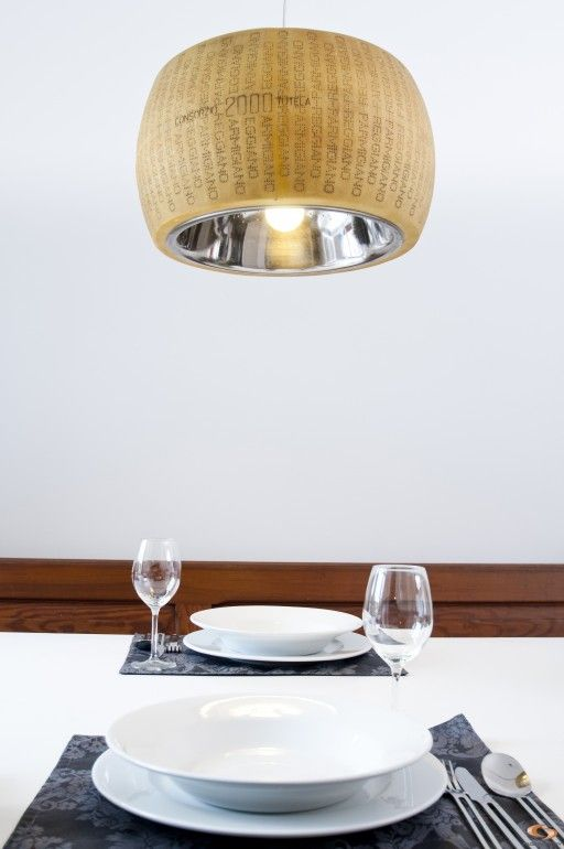 Stylish Parmesan cheese lamp