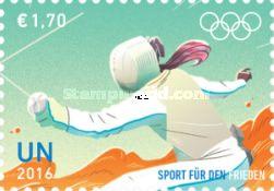 UN Vienna, 22.7.2016. Olympic Games - Rio de Janeiro, Brazil. Value 1,70 EUR, Issued (4/4) 210.000 pcs. Price: 2,73 USD.