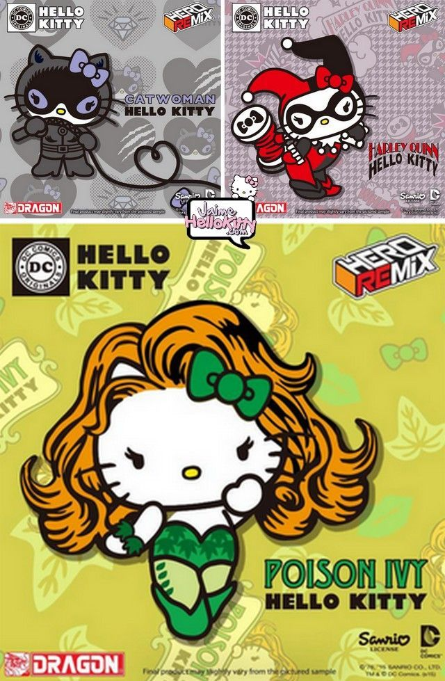 Hello Kitty Harley Quinn | Hello Kitty DC Comics partie 2: Catwoman , Harley Quinn et Poison Ivy ... - Visit to grab an amazing super hero shirt now on sale!