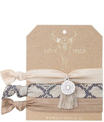 Haarelastiekjes van het merk Love Ibiza.  #haarmode #Ibiza #elastiekjes