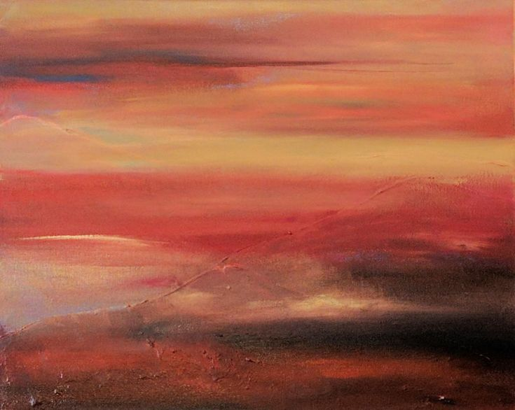 """Buy Living Warmth 16""""x20"""" Abstract Landscape, Acrylic painting by Florence Cliffe on Artfinder. Discover thousands of other original paintings, prints, sculptures and photography from independent artists."""